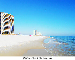 Calm waters on the Gulf of Mexico at Perdido Key.