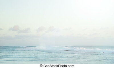 calm waves at beach in mauritius