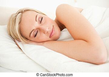 Calm woman sleeping