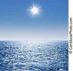 calma, água mar, superfície