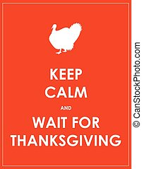calme, attente, thanksgiving, fond, garder