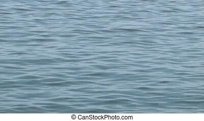 Calmed blue waters
