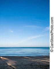 calmly sea and clear blue sky