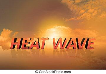 calor, concepto, onda