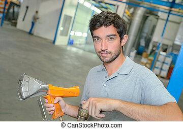 calor, industrial, arma de fuego