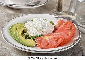 caloria, baixo, refeição
