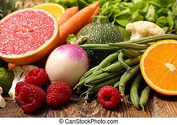 caloria, fruta, vegetal, baixo