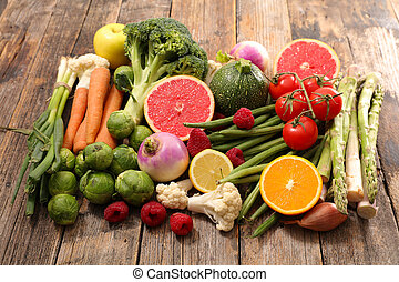 caloria, seleção, alimento, baixo