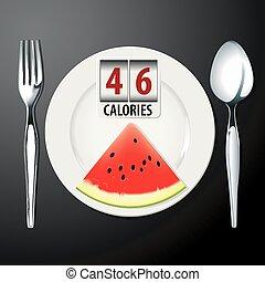 calorie, in, anguria