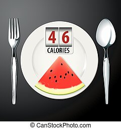 Calories in Watermelon  - Vector of Calories in Watermelon