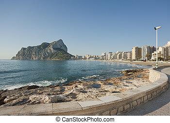Calpe coast promenade