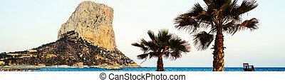 Calpe, Spain. Mediterranean resort in Costa Blanca