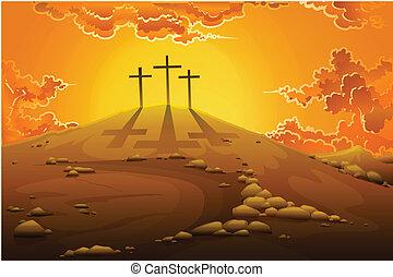 calvaire, crucifixion