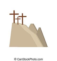 calvary, colina, tres, cruces