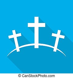 Calvary icon. Vector illustration - Calvary icon with long...
