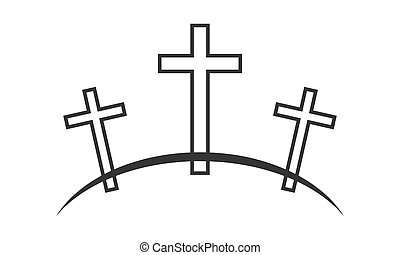 Calvary icon. Vector illustration