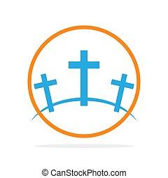 Calvary icon. Vector illustration. - Calvary symbol in the...