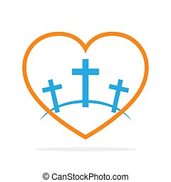 Calvary icon. Vector illustration. - Calvary symbol with...