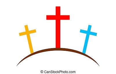 Calvary icon. Vector illustration - Colored Calvary icon...