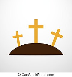 Calvary icon - vector illustration. - Simple calvary icon...