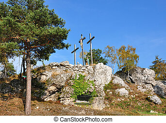 Calvary in Moosbach, Bavaria, Germany