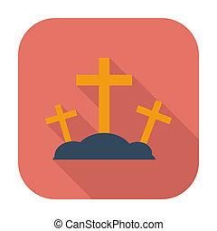 Calvary single flat color icon. Vector illustration.
