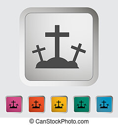 Calvary single icon. Vector illustration.