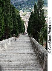 Calvary Steps at Pollensa, Mallorca, Spain