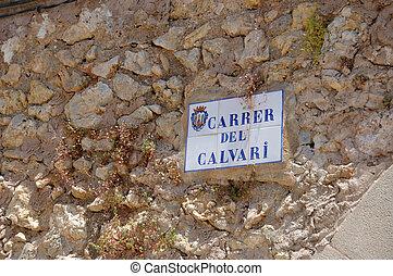 Calvary street sign