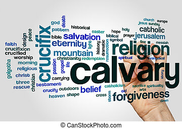 Calvary word cloud