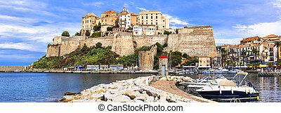 Calvi - panoramic view with fortress. Corsica - Corsica ...