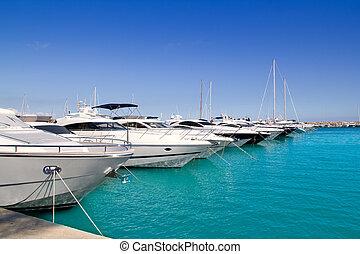 Calvia Puerto Portals Nous luxury yachts in Majorca