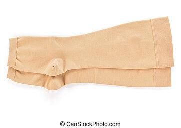 calze, fondo., medico, bianco, compressione