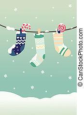calze, inverno, natale
