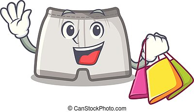 calzoncini da bagno, shopping, isolato, mascotte