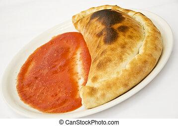 calzone, pizza