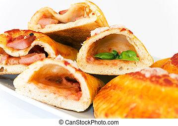 calzone stuffed  - pizza dough stuffed