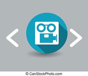 caméscope, icône