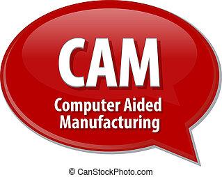 CAM acronym definition speech bubble illustration - Speech...