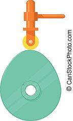 Cam mechanism icon, cartoon style - Cam mechanism icon....