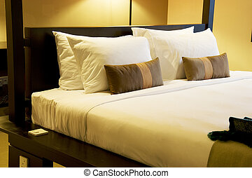 cama, confortável