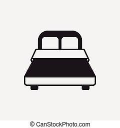 cama, icono
