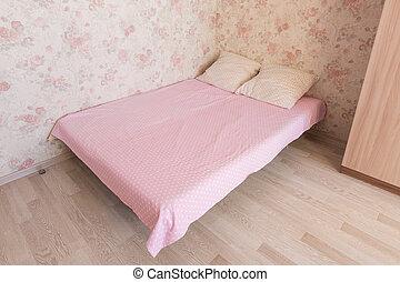 cama matrimonial, en, el, habitación