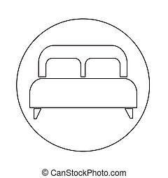 cama matrimonial, icono
