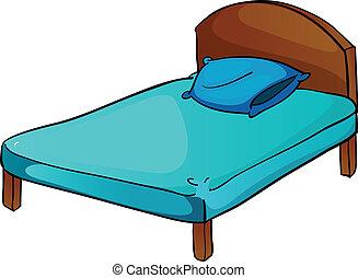 cama, y, almohada