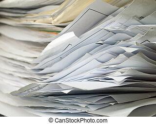 camada, documento, antigas, horizontais