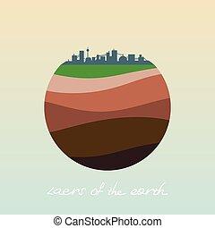camadas, earth.