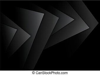 camadas, escuro, abstratos, experiência preta