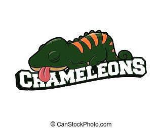 camaleões, desenho, ilustração