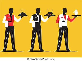 camarero, 3, desfile